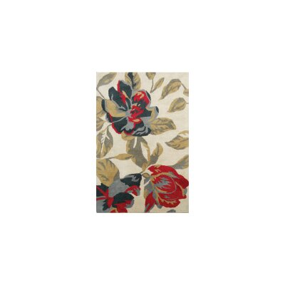 Coralie Flooring Zinnia Hand-Tufted Grey Area Rug