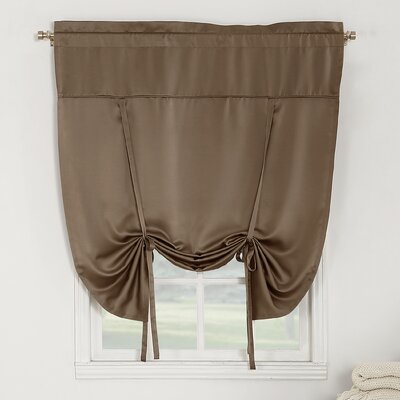 Groton Room Darkening Tie-Up Shade Color: Mocha