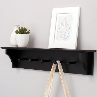Bremen Wall Floating Shelf Finish: Black