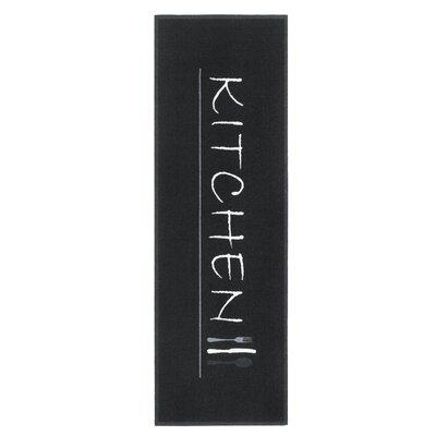 Bruce Starke Galley Kitchen Black Area Rug