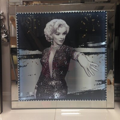 Crown Home Décor Marilyn Monroe Framed LED Photographic Print