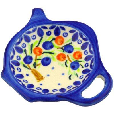 "Polish Pottery 4"" Lemon Plate"