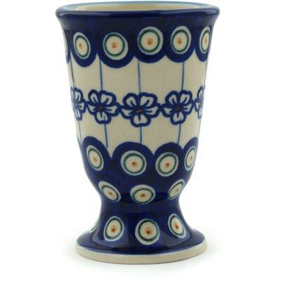 Polish Pottery Flowering Peacock 7 Oz. Goblet