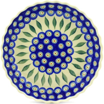 Peacock Fluted Pie Dish