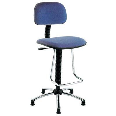 Drafting Chair Seat Material: Vinyl, Color: Black