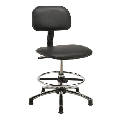 Low-Back Drafting Chair Upholstery: Black