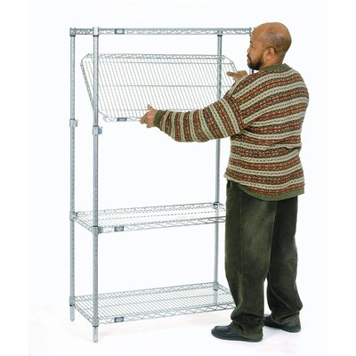 "E-Z Adjust Wire 4 Shelf Shelving Unit Starter Size: 63"" H x 72"" W x 18"" D"
