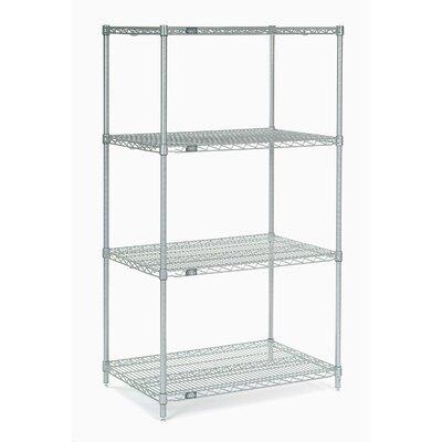 "4 Shelf Shelving Unit Starter Size: 86"" H x 24"" W x 18"" D, Finish: Silver Epoxy"