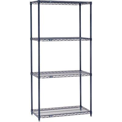"""4 Shelf Shelving Unit Starter Finish: Nexelon, Size: 74"""" H x 24"""" W x 18"""" D"""