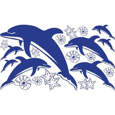 Graz Design Wandaufkleberset Delfine - 100 x 57 cm