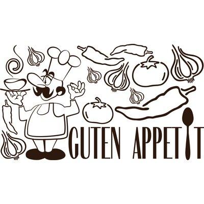 Graz Design Wandaufkleberset Guten Appetit - 57 x 100 cm