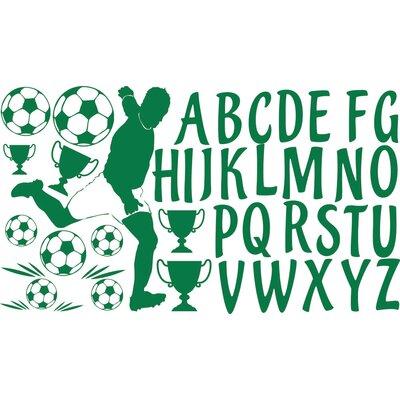 Graz Design Wandaufkleberset Fußball - 57 x 100 cm