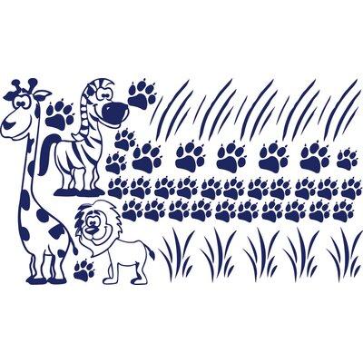 Graz Design Wandaufkleberset Zoo - 57 x 100 cm