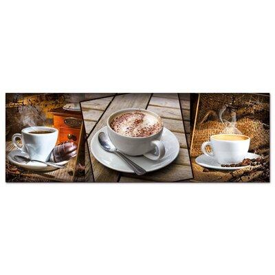 Graz Design Acrylglasbild Kaffee, Tassen, Bohnen