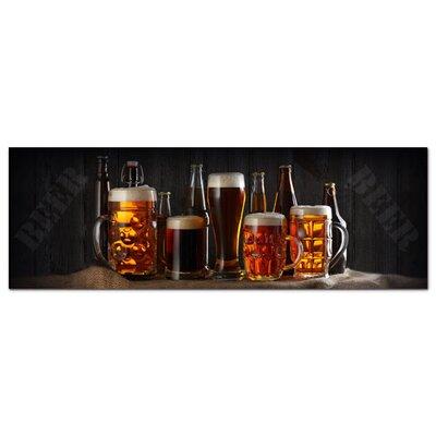 Graz Design Acrylglasbild Biergläser, Bier, Humpen