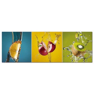 Graz Design Acrylglasbild Obst, Kiwi, Zitrone, Apfel