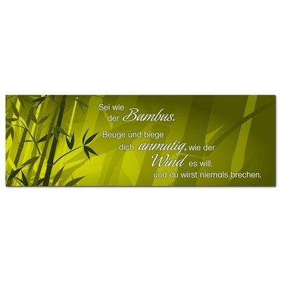 Graz Design Glasbild Sei wie der Bambus Grafikdruck