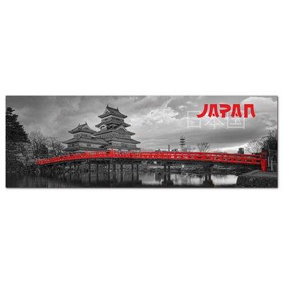 Graz Design Acrylglasbild Japan, Tempel, Brücke
