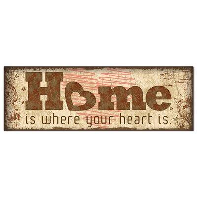 Graz Design Acrylglasbild Home Is Where Heart