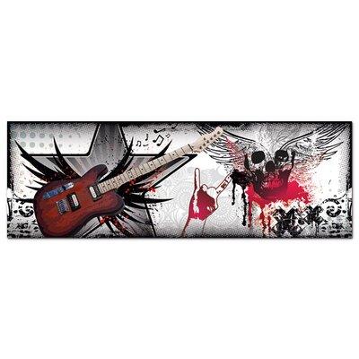 Graz Design Acrylglasbild Gitarre, Totenkopf, Kreuze