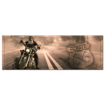 Graz Design Acrylglasbild Route 66, Biker, Motorrad