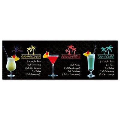 Graz Design Acrylglasbild Rezepte für Cocktails, Gläser