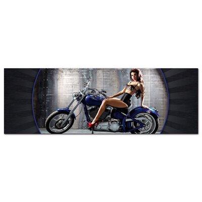 Graz Design Acrylglasbild Motorrad, sexy Frau
