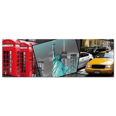 Graz Design Acrylglasbild Großstädte, London, New York
