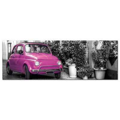 Graz Design Acrylglasbild Pinkes Auto, Häuser, Italien
