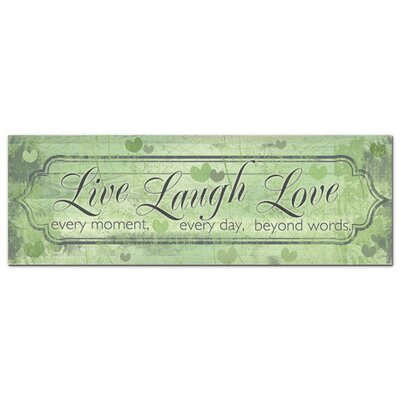 Graz Design Acrylglasbild Live Laugh Love