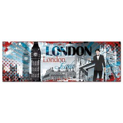 Graz Design Acrylglasbild London, Mann, Big Ben