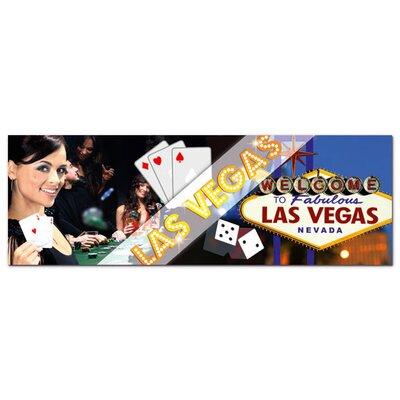 Graz Design Acrylglasbild Las Vegas, Frau, Karten