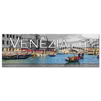 Graz Design Acrylglasbild Venezia, Venedig, Gondeln