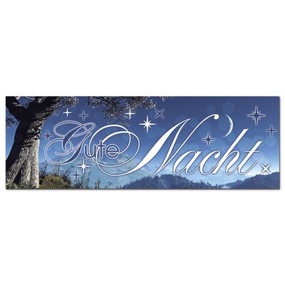 Graz Design Acrylglasbild Gute Nacht, Sterne