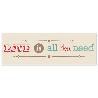 Graz Design Acrylglasbild Love Is All You Need