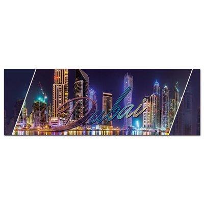 Graz Design Acrylglasbild Dubai, Skyline, Gebäude