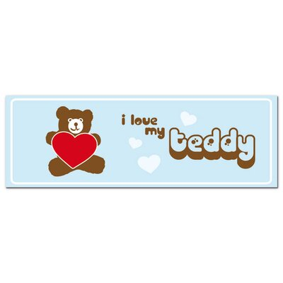 Graz Design Acrylglasbild I love my Teddy