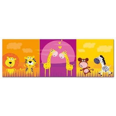 Graz Design Acrylglasbild Tiger, Affe, Giraffen, Herzen