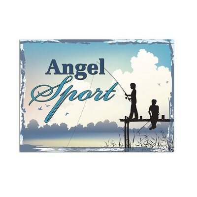 Graz Design Wandsticker Angelsport, Angler