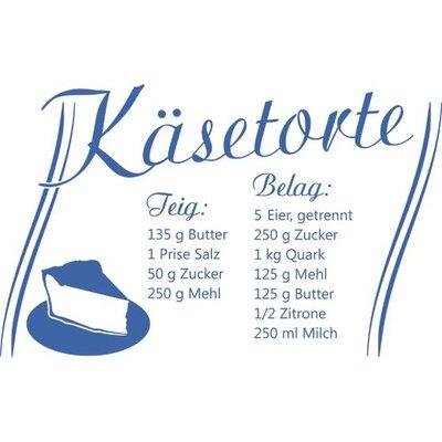 Graz Design Wandtattoo Rezept für Käsetorte