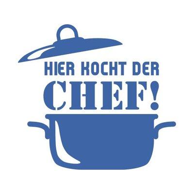 Graz Design Wandtattoo Hier kocht der Chef, Koch