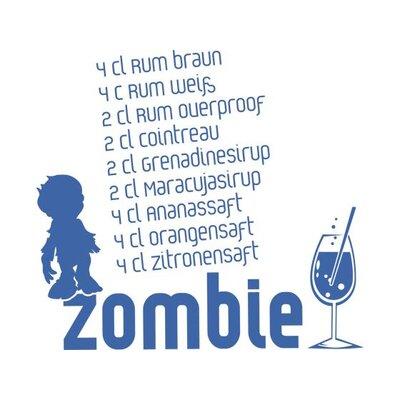 Graz Design Wandtattoo Rezept für Zombie-Getränk