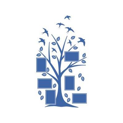 Graz Design Wandtattoo Baum, Blätter, Vögel
