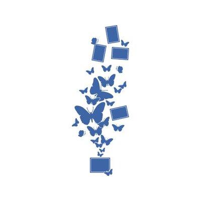 Graz Design Wandtattoo Schmetterlinge, Falter, Rahmen