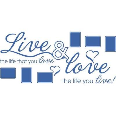 Graz Design Wandtattoo Live & Love, Herzen