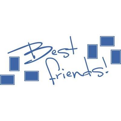 Graz Design Wandtattoo Best Friends, Rahmen