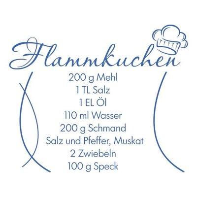 Graz Design Wandtattoo Rezept für Flammkuchen
