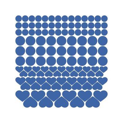 Graz Design Wandtattoo-Set Punkte, Herzen
