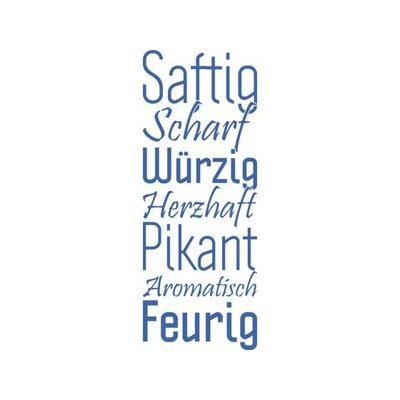 Graz Design Wandtattoo Saftig, Scharf, Würzig