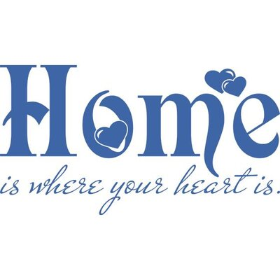 Graz Design Wandtattoo Home is where your heart is